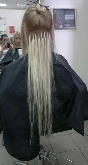 наращивания волос Euro.